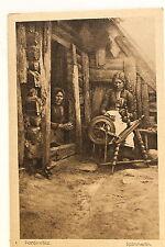 24482 AK Poniewiez Panevėžys Litauen Holzhaus Spinnrad Spinner 1916 PC Lithuania
