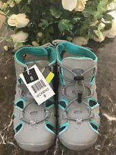 New EDDIE BAUER Women's Mary Grey Sandals Genuine Leather Closed Toe Sz 8