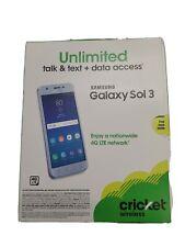 Brand New Sealed Samsung Galaxy Sol 3 Cricket With Warranty