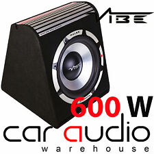 """VIBE PULSE V8 600 Watts 8"""" Inch 20cm Amplified Car Sub Bass Box Subwoofer"""