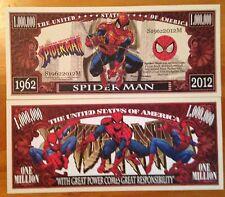 Spider Man Million Dollar Bill ( Comics , Marvel )