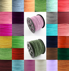 Faux Suede Leather Cord 3mm x 1.5mm Thong for Jewellery Making Bracelet Boho
