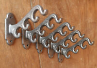 5 x  4 in 1 CAST IRON HAT & COAT HOOKS VICTORIAN OLD ANTIQUE VINTAGE - CH18(x5)