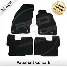 Vauxhall Corsa E 2014 en adelante Totalmente a Medida Alfombrillas De Coche De Lujo Alfombra de 1300g Negro