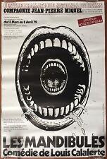 Affiche LES MANDIBULES Comédie de Louis Calaferte REIMS 1979 40x60cm *