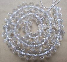 3x5mm 4x6mm 5x8mm 6x10mm 8x12mm Rock Crystal Quartz Faceted Rondelle Loose Beads