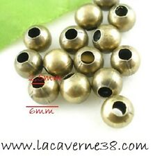 30 Perles de verre Hélicoidal Lampwork Bronze Or