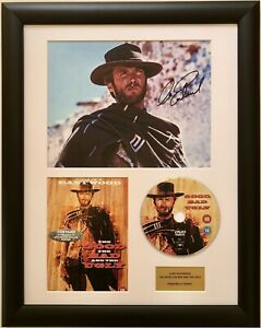 Clint Eastwood/Good the Bad & the Ugly / Signed Photo / Autograph / Framed / COA