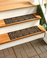 Rubber Stair Step Treads Mats Scroll Basketweave Leaves Outdoor Porch Traction