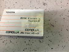 1990 TOYOTA COROLLA ALL-TRAC 4WD Owners Operators Owner Manual OEM