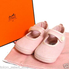 Authentic Hermes Pink Baby Shoes 65% Laine & 35% Angora Made France in Box