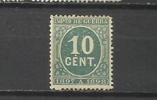 1176-SELLO IMPUESTO GUERRA 1898 10 cts goma original