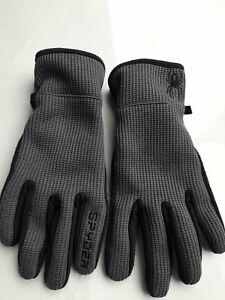 Spyder Ladies Gloves Small Medium Fit Worn Once grey black walking ski winter