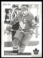 2020-21 UD O-Pee-Chee Base Black & White #226 John Tavares - Toronto Maple Leafs