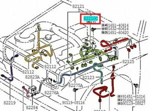 TOYOTA 82627-60030 Fusible Link Genuine Parts LAND CRUISER PRADO 199208-199604