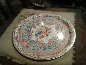 Vintage Daher Decorated Ware 1971 Floral Metal Tray Tin Plate , England