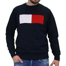 Tommy Hilfiger Baumwoll-Sweatshirt Pullover Herren Dunkelblau MW0MW09713 403
