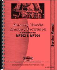 Massey Ferguson 302 304 320 Tractor Backhoe Attachment Service Manual