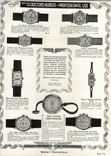 1937 PAPER AD Gallet Chronograph Wrist Pocket Duo Dial Men's Strap Doctor Nurse