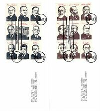 1986 .22c PRESIDENTS MINIATURE LOT OF 4  SHEETS Commemorative FIRST DAY ISSUE