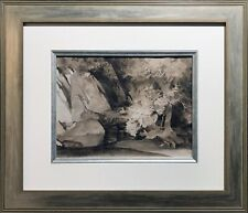 SIR WILLIAM RUSSELL FLINT SIGNED ORIGINAL WATERCOLOUR ASH TREE & GORGE
