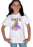 Disney Princess Rapunzel Vogue Cover T-shirt Unisex Boys Girls Kids Gift 819