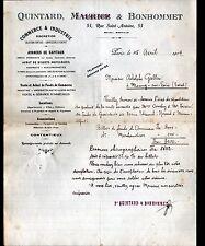 """PARIS (IV°) VENTE de COMMERCES """"Agence IMMOBILIERE / QUINTARD & BONHOMMET"""" 1914"""