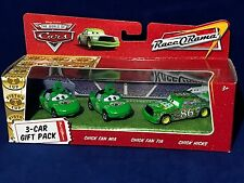 New CHICK HICKS + FAN MIA & TIA - 3-Car GIFT PACK Pixar Cars N9768 RACE-O-RAMA