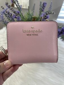 NWT Kate Spade Staci Small Zip Around Wallet  Light Crepe$139 Great Gift