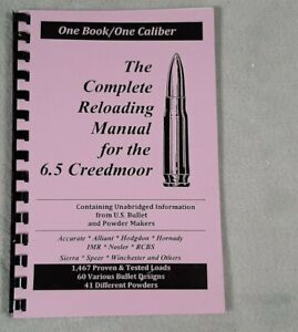 6.5 Creedmoor  Reloading Manual LOADBOOKS USA 6.5 Creedmore  NEW   Great!