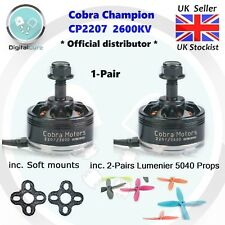 Pair Cobra Cp-2207 2600kv 3-6s Brushless Motors Soft Mounts Lumenier 5040 Props