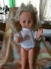 5ocm gégé jolie ,poupée vintage yeux dormeurs bleus ,modéle déposé blonde