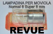 ★LAMPADINA PER MOVIOLA CINEMATOGRAFICA 8/S.8 mm REVUE★