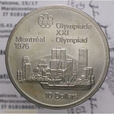 10 Dollari 1973 1976 Montreal Skyline (Canada) qFDC LOT2064