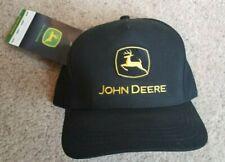 Nwt John Deere Logo Embroidered Black Snapback Cap Hat 175 Years Farm Equipment