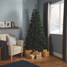 213cm 7ft Classic Green Artificial High Density Christmas Tree