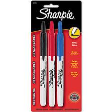 Sharpie Fine Retractable Markers Fine Marker Point Type Assorted Ink 3/Set