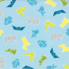Cotton Paper Cranes Japanese Origami Art Animals Cotton Fabric Print BTY D689.06