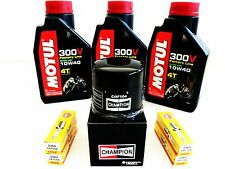 KIT REPLACEMENT OIL MOTUL 300V 10W-40 + FILTER + 4 CANDELE for YZF R6 2006 2007