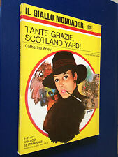 Catherine ARLEY - TANTE GRAZIE SCOTLAND YARD , Giallo Mondadori n.1336 (1974)