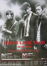 """W-INDS """"MOVE LIKE THIS"""" ASIAN PROMO POSTER - Japanese Pop Boy Band"""