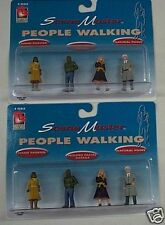 Life Like G Scale Scene Master People Walking Figures 8 Piece Lot