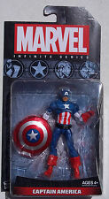MARVEL INFINITE SERIES. CAPTAIN AMERICA. 4 INCH FIGURE. NEW ON CARD