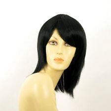 Perruque femme mi longue noir RITA 1B