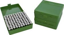 MTM Case Guard Ammo Box 100 Pistol Rounds Green