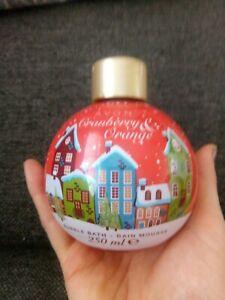 Avon Festive Wishes Cranberry and Orange Bubble Bath Bauble 250ml