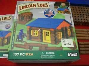 COLLECT ORIGINAL LINCOLN LOGS OAK CREEK LODGE 135 PC. REAL WOOD LOGS MADE IN USA