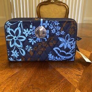 NWT Vera Bradley Turn Lock Wallet in Java Floral