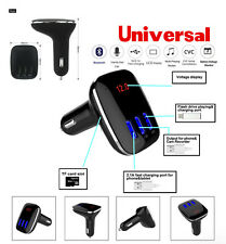 Car FM Transmitter Wireless Bluetooth MP3 Triple USB Ports charger Radio Adapter