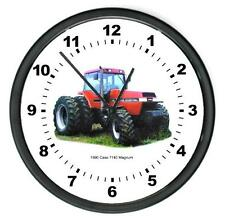 """New 1990 Rc Case Model 7140 Magnum Tractor Wall Clock 10"""" Round Years 1990"""